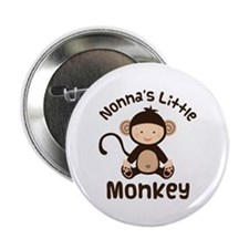 "Nonna Grandchild Monkey 2.25"" Button"