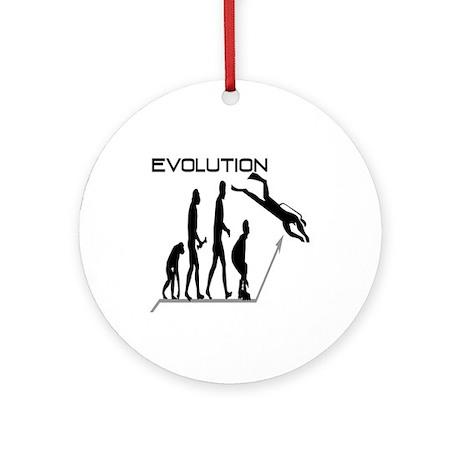 Evolution to Scuba Ornament (Round)