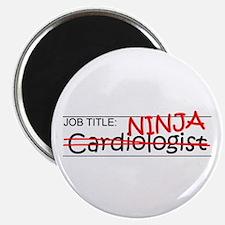 "Job Ninja Cardiologist 2.25"" Magnet (100 pack)"