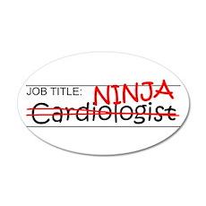 Job Ninja Cardiologist Wall Decal