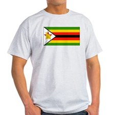 Zimbabwe Blank Flag Ash Grey T-Shirt