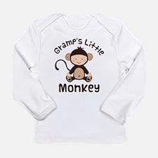 Gramps Grandchild Monkey Long Sleeve Infant T-Shir