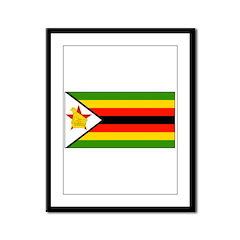 Zimbabwe Blank Flag Framed Panel Print