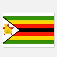 Zimbabwe Blank Flag Postcards (Package of 8)