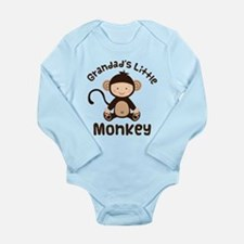 Grandad Grandchild Monkey Long Sleeve Infant Bodys