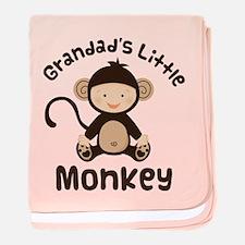 Grandad Grandchild Monkey baby blanket