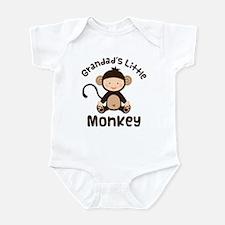 Grandad Grandchild Monkey Infant Bodysuit