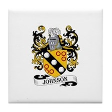 Johnson Family Coat of Arms Tile Coaster