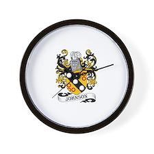Johnson Family Coat of Arms Wall Clock