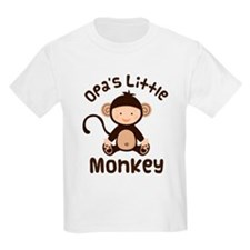 Opa Grandchild Monkey T-Shirt
