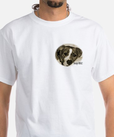 2 sided STOP BSL APBT White T-Shirt