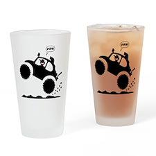 BAJA BUG WHEELIES black image Drinking Glass