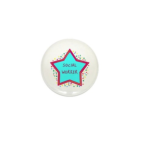 Social Worker Cookie Mini Button