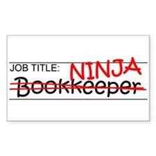Job Ninja Bookkeeper Decal
