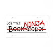 Job Ninja Bookkeeper Aluminum License Plate
