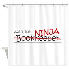 Job Ninja Bookkeeper Shower Curtain