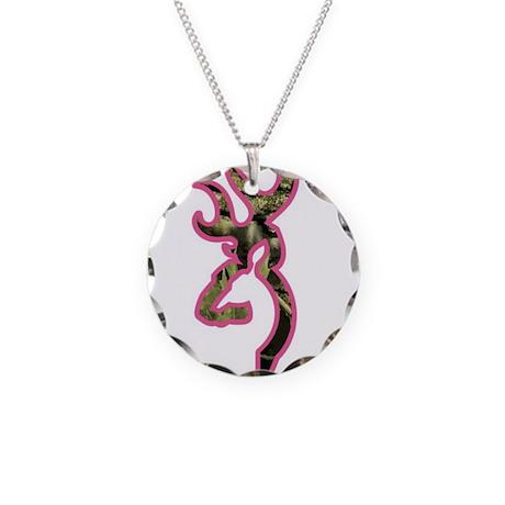 pink camo deer Necklace