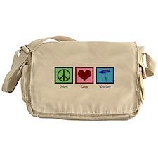 Peace Love Weather Messenger Bag