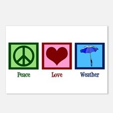 Peace Love Weather Postcards (Package of 8)