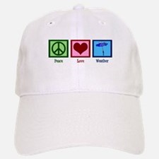 Peace Love Weather Baseball Baseball Cap