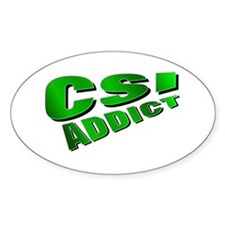 CSI Oval Decal