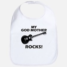 My God Mother Rocks Bib