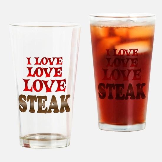 Love Love Steak Drinking Glass