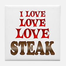 Love Love Steak Tile Coaster
