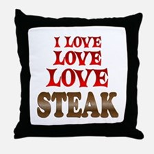 Love Love Steak Throw Pillow