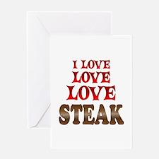 Love Love Steak Greeting Card