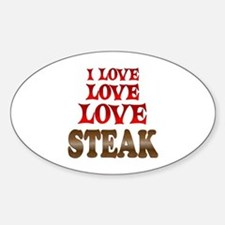 Love Love Steak Sticker (Oval)