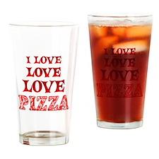 Love Love Pizza Drinking Glass