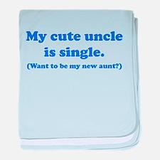 My Cute Uncle Is Single baby blanket