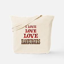 Love Love Hamburgers Tote Bag