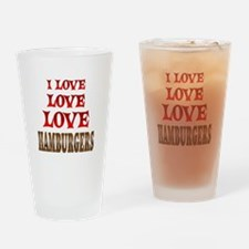 Love Love Hamburgers Drinking Glass