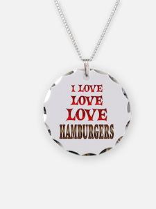 Love Love Hamburgers Necklace