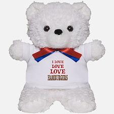 Love Love Hamburgers Teddy Bear