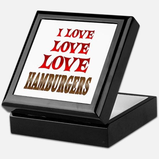 Love Love Hamburgers Keepsake Box
