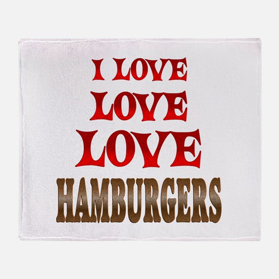 Love Love Hamburgers Throw Blanket