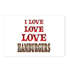 Love Love Hamburgers Postcards (Package of 8)