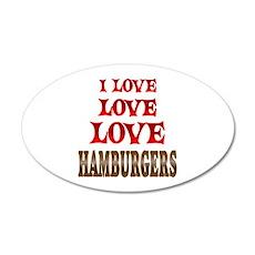 Love Love Hamburgers Wall Decal