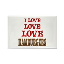 Love Love Hamburgers Rectangle Magnet