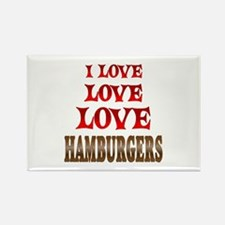 Love Love Hamburgers Rectangle Magnet (10 pack)
