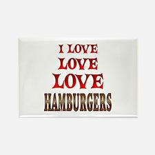 Love Love Hamburgers Rectangle Magnet (100 pack)