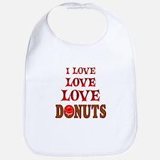 Love Love Donuts Bib