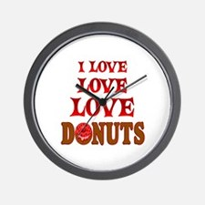 Love Love Donuts Wall Clock