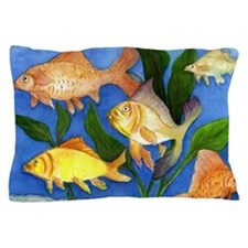 Fun tropical fish pillow case