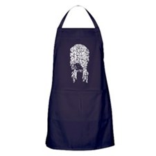 Big Powdered Wig Apron (dark)