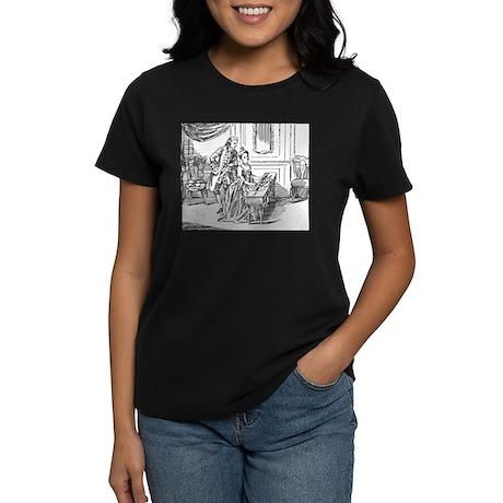Playing The Harpsichord Women's Dark T-Shirt