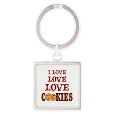 Love Love Cookies Square Keychain